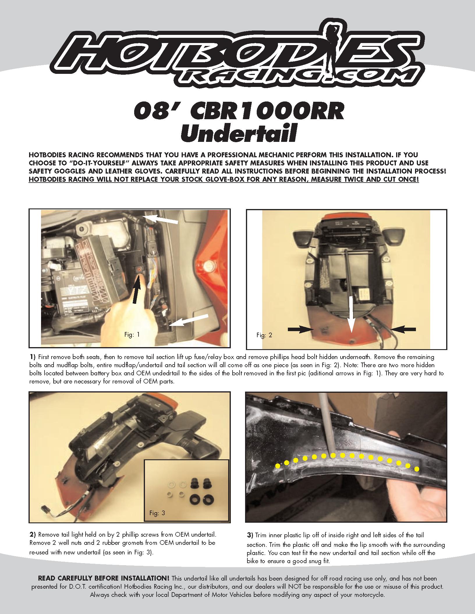CBR1000RR 2008-11 Undertail