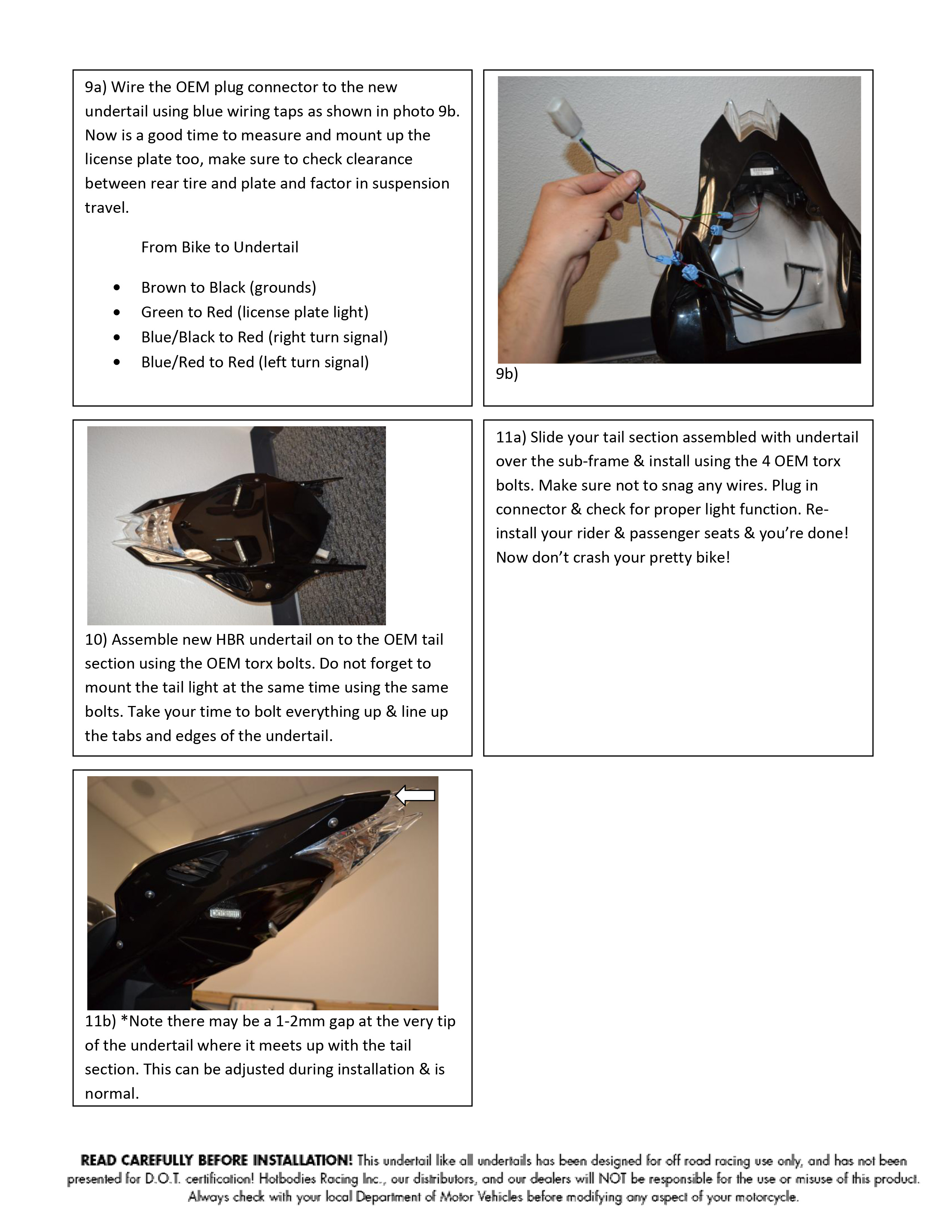 S1000RR 2012-14 Undertail
