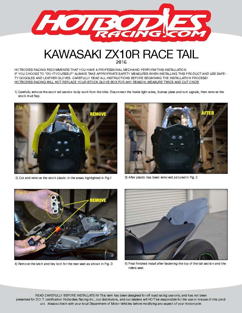 CBR 954RR 2002-03 Undertail Installation